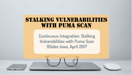 authority on continuous integration and how to find vulnerabilities in your .net code with Puma Scan