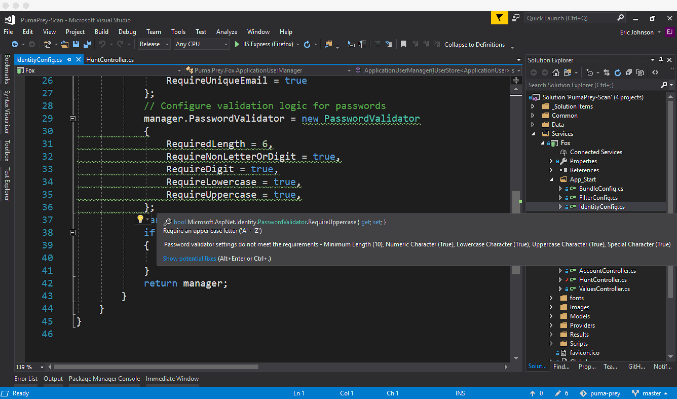 Watch Visual Studio identify vulnerabilities
